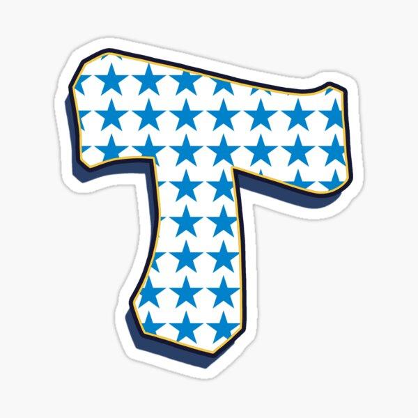 Letter T - stars Sticker
