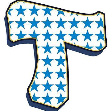 Letter T - stars by paintcave
