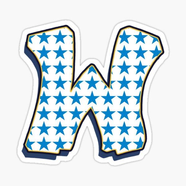 Letter W - Stars Sticker