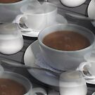 "Time for Tea ""Tea Cups"" Art work By Miss K L Slomczynski KABFA Designs (TFTC) by KABFA"
