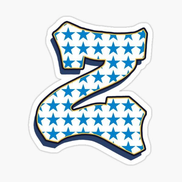 Letter Z - stars Sticker