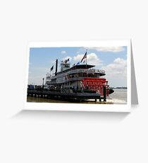 The Natchez Steamboat New Orleans Greeting Card