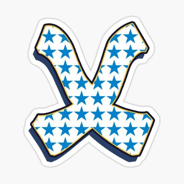 Letter X - Stars Sticker
