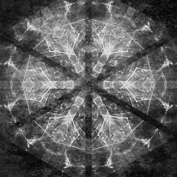Magical black and white mandala 007 by hereswendy