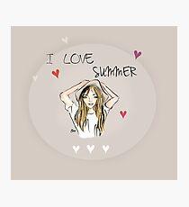 I love summer Photographic Print