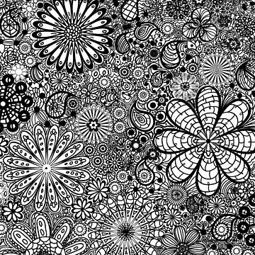Coloring Book Flowers by TinaGraphics