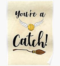 You're a Catch! Greetings Card Poster
