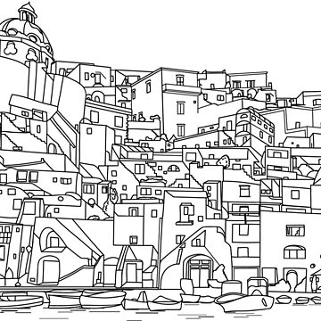Coloring Book of Ocean Villiage by TinaGraphics
