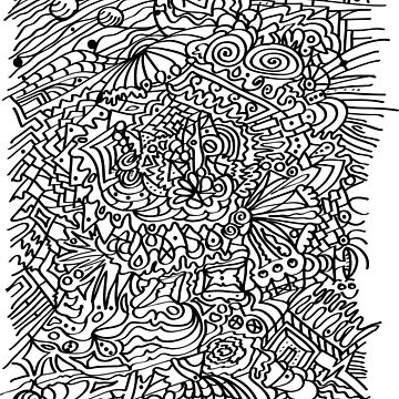 Coloring Book of Abstract Shapes by TinaGraphics