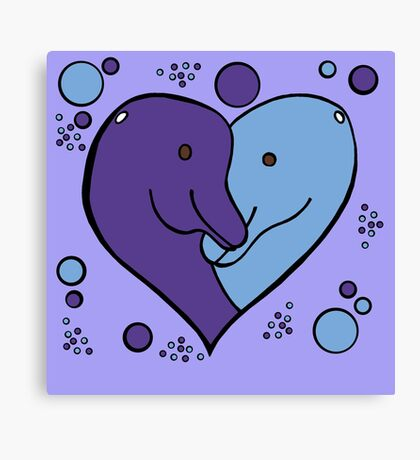 For the love of Dolphins Canvas Print