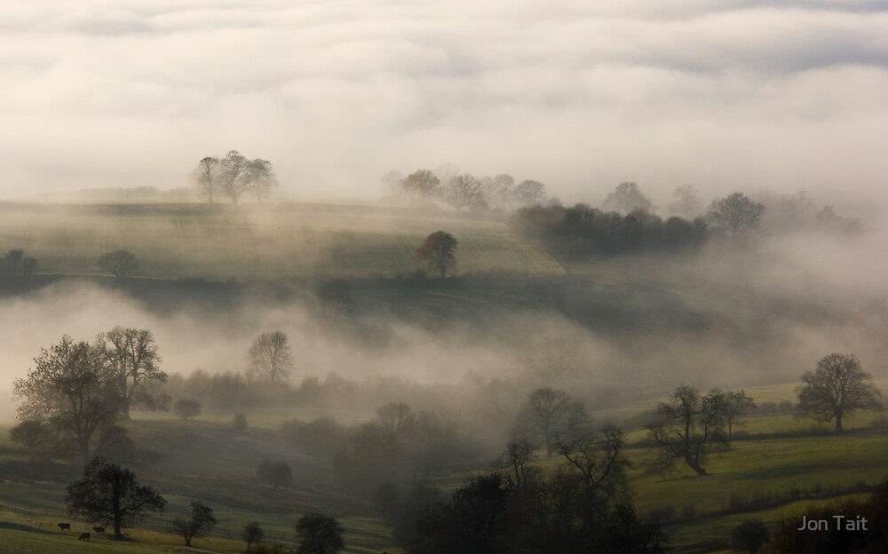 Fog in the Vale of York by Jon Tait
