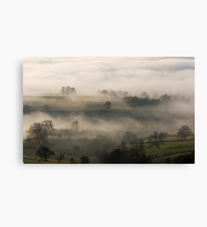 Fog in the Vale of York Canvas Print