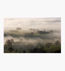 Fog in the Vale of York Photographic Print