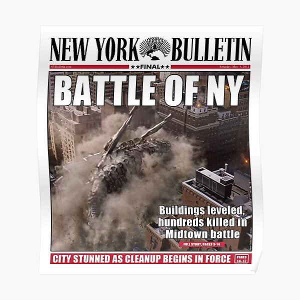Couverture de journal 'Battle of New York' Poster