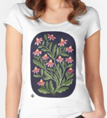 The Red Flowers Women's Fitted Scoop T-Shirt