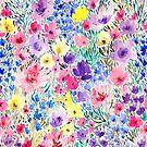 « aquarelle de fleurs colorées » par Rebecca Reck Art