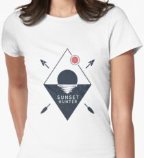Sunset Hunter Women's Fitted T-Shirt