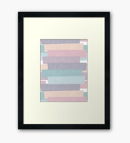 Quietude #redbubble #abstractart Framed Print