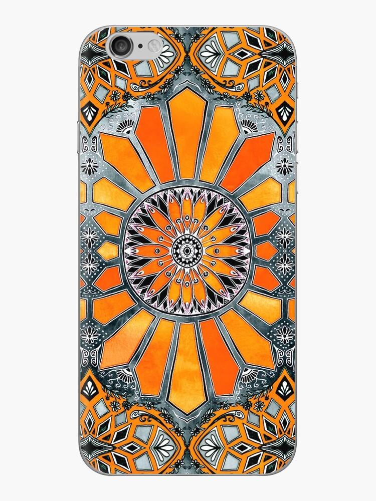 «Celebrando los años 70 - acuarela naranja mandarina en gris» de micklyn