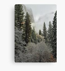 Yosemite: Half Dome in Winter, After First Snowfall Canvas Print