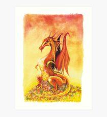 Smaug the Dragon Art Print