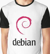 Linux Debian logo Graphic T-Shirt