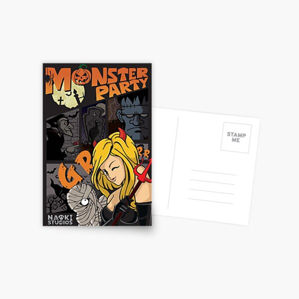 Monster Party Postcard