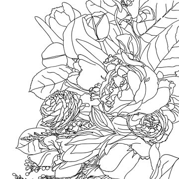 Coloring Book of Flowers by TinaGraphics