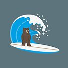 unBEARable Surfing (brown) by 73553