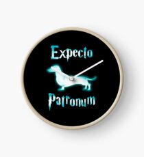 Expecto patronum dog. Clock