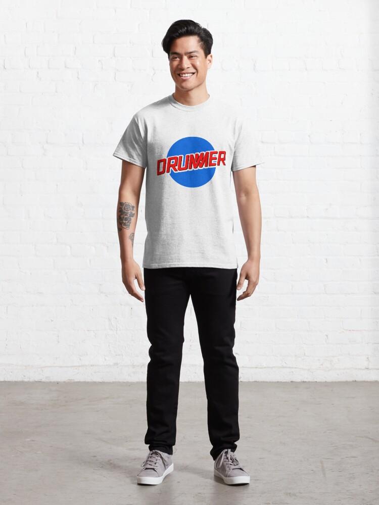 Alternate view of DRUMMER Meatball Logo Classic T-Shirt