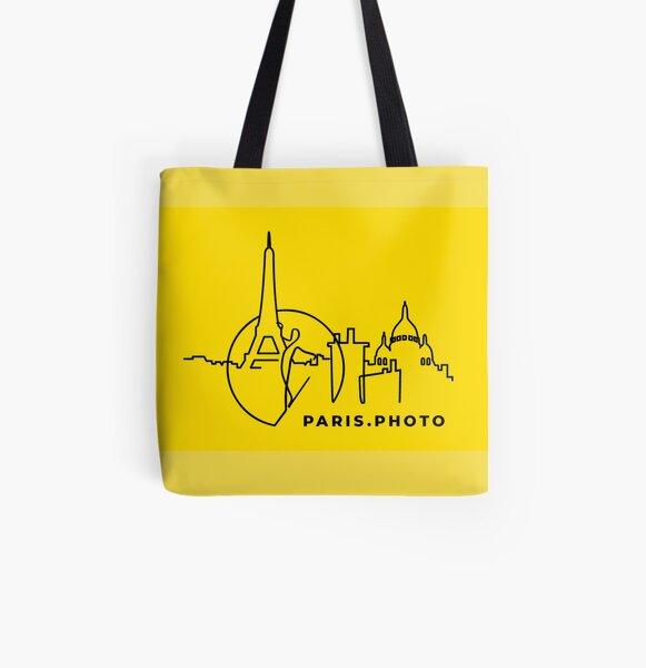 PARIS PHOTO JAUNE Tote bag doublé
