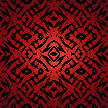 Red tribal shapes pattern by steveball