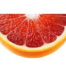Slice of blood orange by 6hands