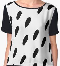 Black & White Polka Pattern Chiffon Top