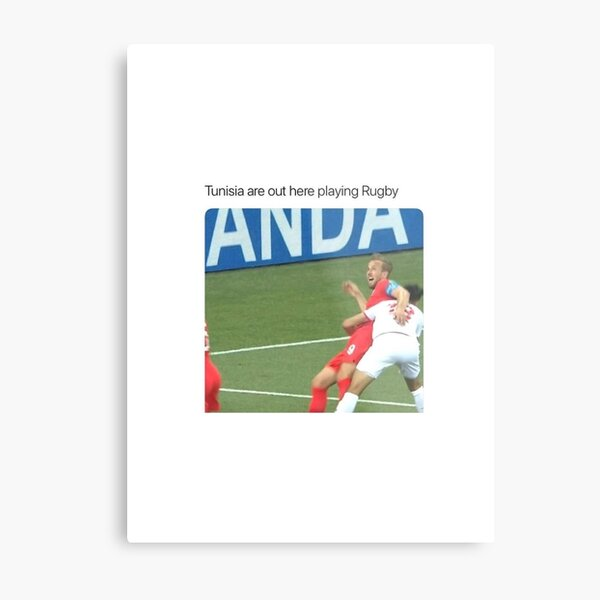 Tunisia England Football World Cup - Tunisia are out here playing Rugby Metal Print