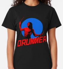 DRUMMER Logo and Figure Classic T-Shirt
