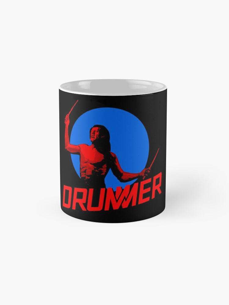 Alternate view of DRUMMER Logo and Figure Mug