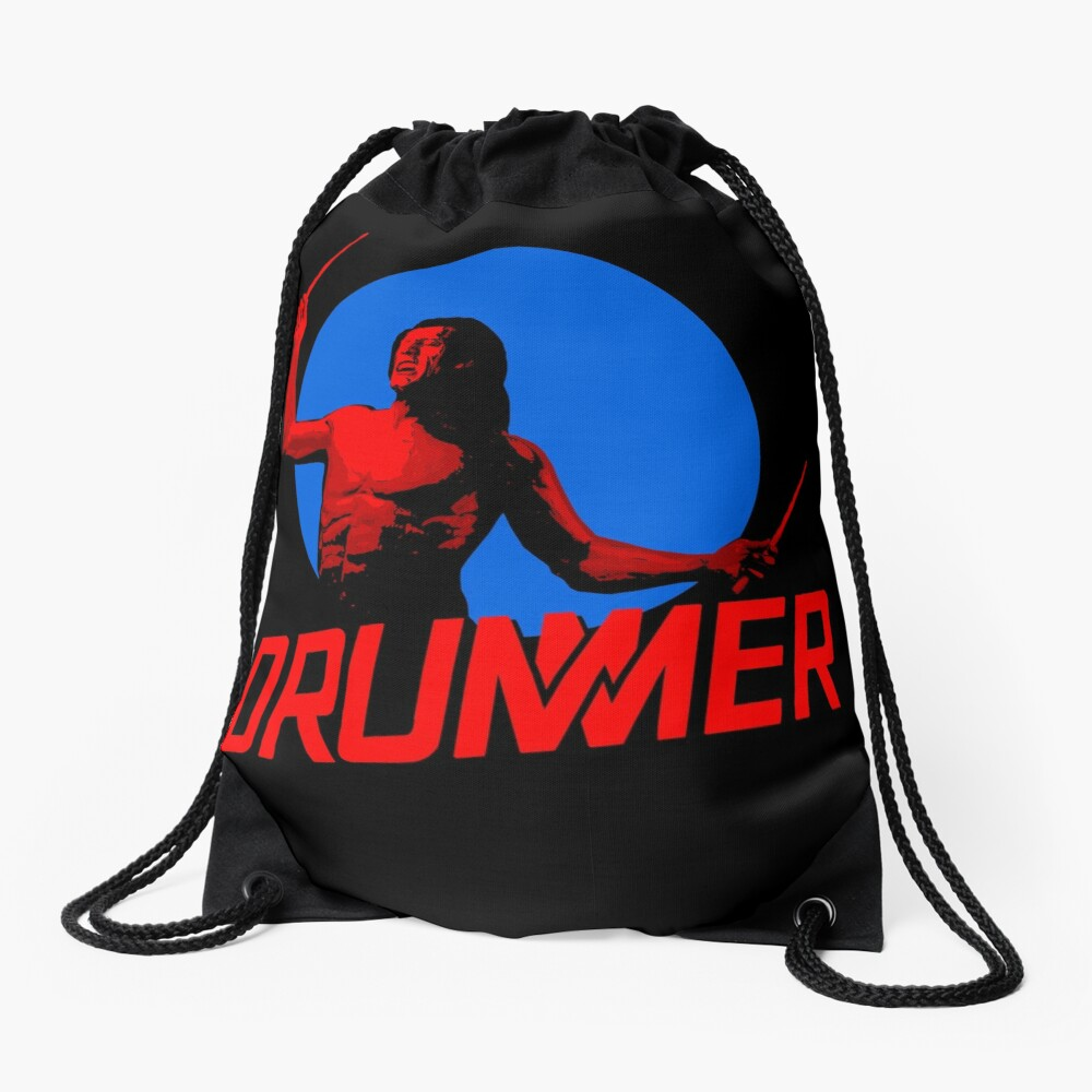 DRUMMER Logo and Figure Drawstring Bag