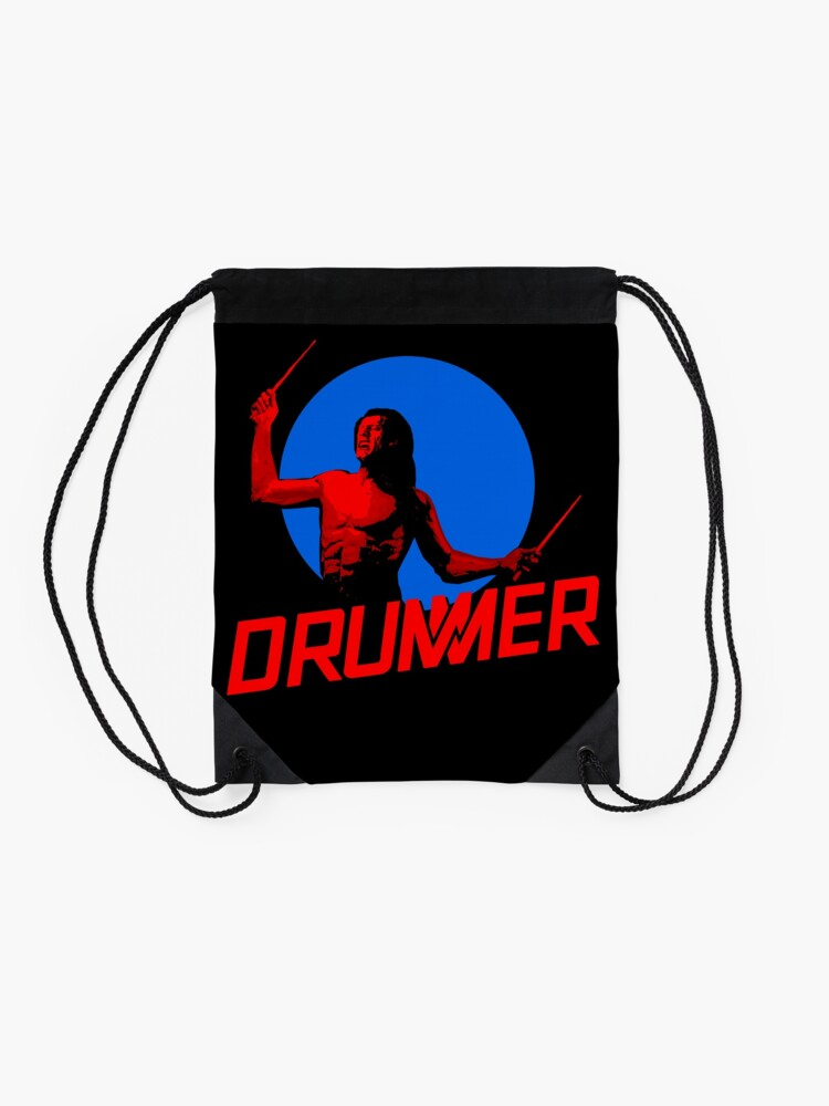 Alternate view of DRUMMER Logo and Figure Drawstring Bag
