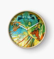 HD. 8th Sokol Festival , by Alphonse Mucha  (1912) High Definition Clock