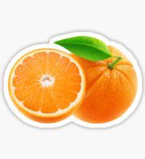 Cut orange fruits Sticker