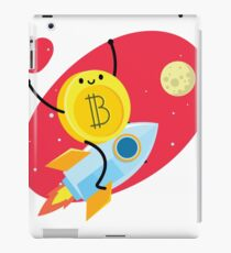 Bitcoin to the moon iPad Case/Skin