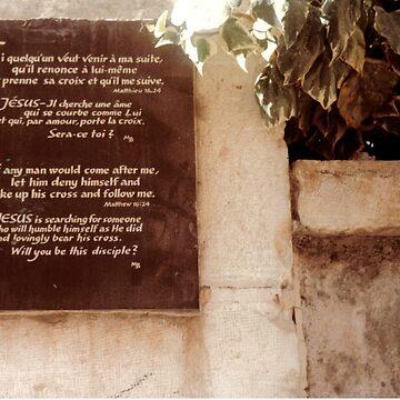 MIDDLE EAST/JERUSALEM BIBLE VERSE FOLLOW ME. by Shoshonan