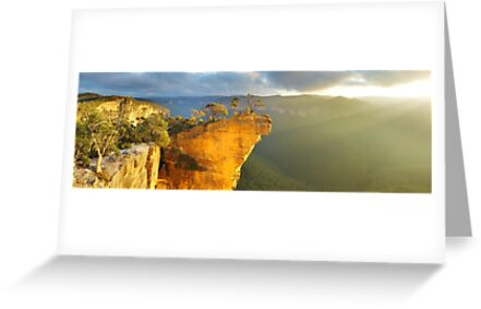 Hanging rock blue mountains australia greeting cards by michael hanging rock blue mountains australia by michael boniwell m4hsunfo