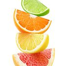 Citrus slices on top of each other by 6hands