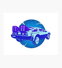 DeLorean Traveling Through Time Photographic Print