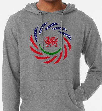 Welsh American Multinational Patriot Flag Series Lightweight Hoodie