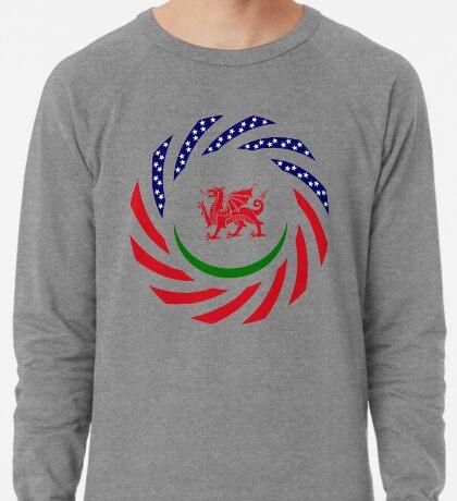 Welsh American Multinational Patriot Flag Series Lightweight Sweatshirt