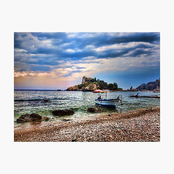 Isola Bella, Taormina, Sicily Photographic Print
